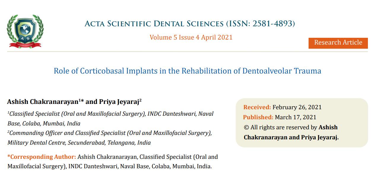 Acta Scientific Dental Sciences (ISSN 2581-4893)