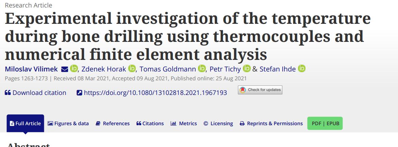 Experimental investigation of the temperature